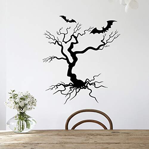 JXYYHalloween Wandaufkleber Baum Flying Dragon Wandaufkleber Abziehbilder Abnehmbare Halloween Festival Party Wohnkultur Schwarz Muursticker 580X650mm