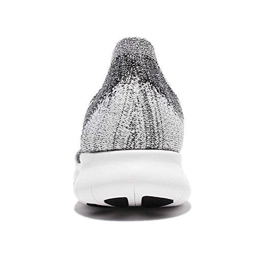 Nike Free Run Flyknit 2017, Scarpe Running Uomo Black/White-Volt