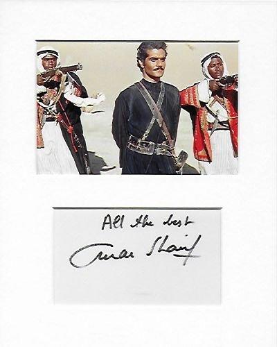 Lawrence von Arabien-şerif Ali-Omar Sharif Genuine Authentic Hand Autogramm AFTAL COA