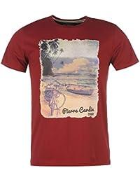 Pierre Cardin Homme Photo T-Shirt Col Rond Tee Top Haut Imprimé Manche Courte