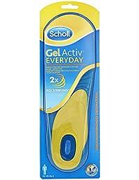 Scholl GelActiv Einlegesohlen Everyday (für Freizeitschuhe von 40-46,5, Verbesserter Komfort durch doppelte Polsterung, selbstklebende Gelsohlen) 1 Paar