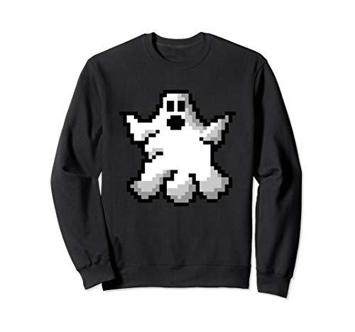 Pixel Art Game Ghost Halloween Bitmap Boo Gamer  Sweatshirt (Halloween-party Adventure World 2019)
