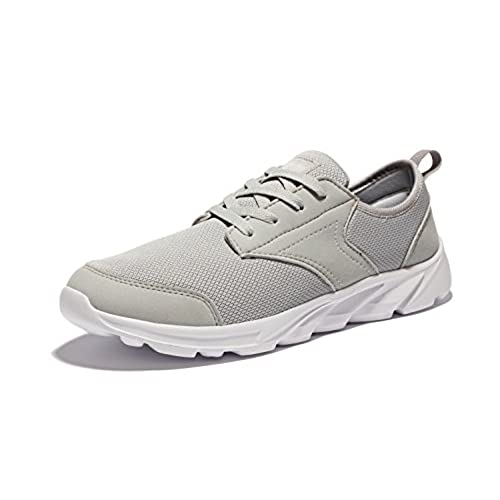 Espadrilles Mens Casual Shoes Outdoor Exercise Sneakers Lace-up Deck Shoes (Color : Grey Size : 41)
