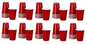 Idena 10118236Beer Pong-Juego de vasos, 100Piezas