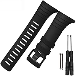 Fulltime(TM) Luxury Rubber Watch Replacement Band Strap For SUUNTO CORE SS014993000