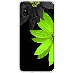 """FUBAODA Xiaomi Mi A2 /Mi 6X Funda TPU Gel de Silicona, [Margarita Verde] Resistente a Golpes, Antipolvo, Resiste a los Arañazos, Carcasa Protectora de Goma Xiaomi Mi A2 /Mi 6X(5.99"""")"""