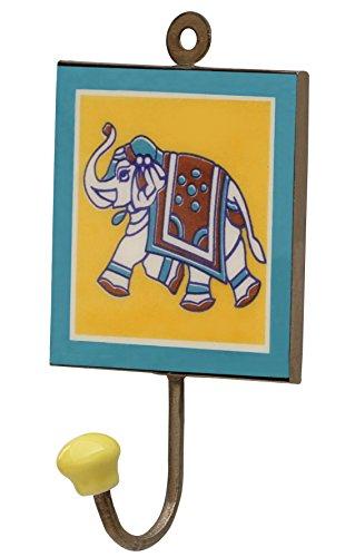 SouvNear Kleiderhaken Garderobenhaken Mantelhaken aus Keramik, 15.7 cm, Bunt , Wand Haken für zuhause oder draußen zum Aufhängen von Kleidung Schlüssel Mantel - Schlafzimmer Badezimmer Wohnzimmer Garten Deko (Mantel Indischen Im Winter)
