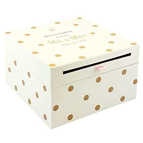 Fun Daisy Mr & Mrs Wedding Card Collection Box Gift Accessories Letters Cards Post by Fun Daisy Home Series