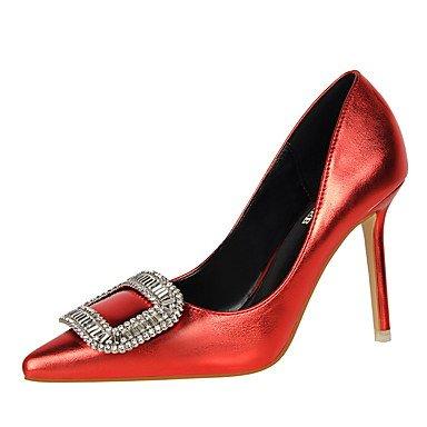 Moda Donna Sandali Sexy donna tacchi inverno abito Comfort Stiletto Heel fibbia Nero / Marrone / Rosso / Argento / Oro champagne / a piedi golden