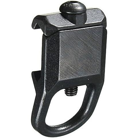 Bazaar Montaje de eslinga de acero apego placa adaptadora de 20 mm carril Picatinny
