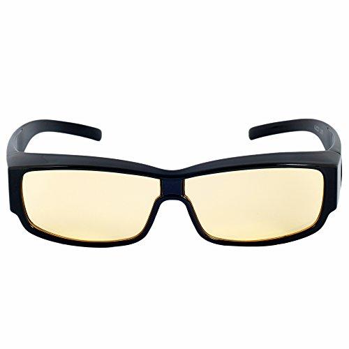 Anti-Blaulicht Brille – Umfasstes Gestell für einen Erstklassigen Schutz – Gegen Bildschirmmüdigkeit Computer Handy Tablet TV - PREMIUM Brillen Ruhe Filter Licht