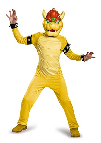Super Mario Bros Bowser Deluxe Child Costume Large (Supplies Super Bros Mario Party)