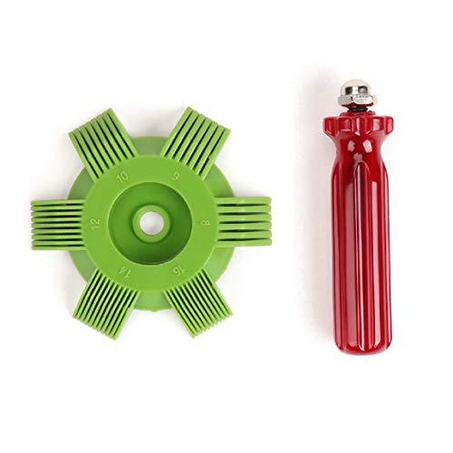 Preisvergleich Produktbild Universal Kunststoff Auto A / C Kühler Kondensator Verdampfer Fin Richtspule Kamm für Auto Kühlsystem Werkzeug (farbe: grün & rot)