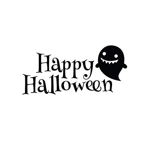 yaoxingfu Happy Halloween Wandtattoo Nette Böe Wandaufkleber Haustür Vinyl Aufkleber Abnehmbare Halloween Wandbild Urlaub Dekor57x27 cm