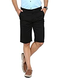 Showoff Men's Black Solid Chino Shorts