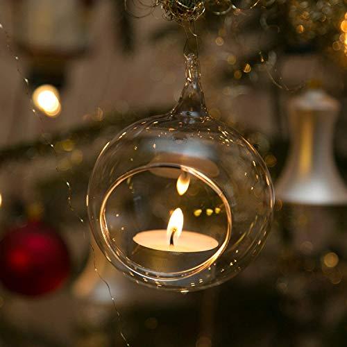 Beleuchtung für Christbäume Windlichter aus Glas 3 Stück 8cm mundgeblasen handgeformt Lauschaer Glas das Original -