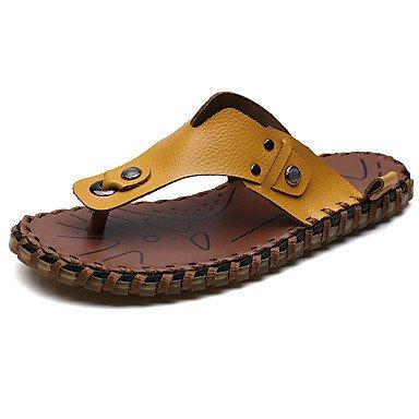 Uomo Slippers & Estate Comfort Light Suole PU casual Giallo Nero sandali bianchi sandali US10 / EU43 / UK9 / CN44