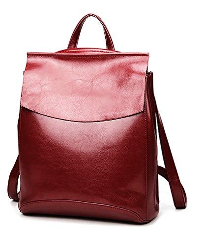 Ghlee Frauen vertikal koreanischen weiblichen Rucksack lässig Wild Mode sudent Schultertaschen echtes Leder Handtaschen - Koreanischen Tasche