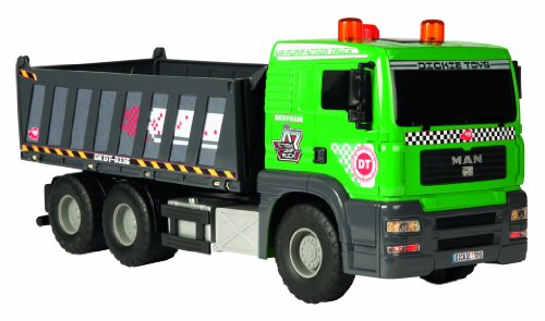 Dickie Toys Pompe d'action Camion Benne