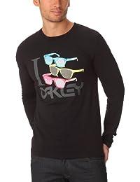 Oakley Herren Shades Langarm T-Shirt Baumwolle