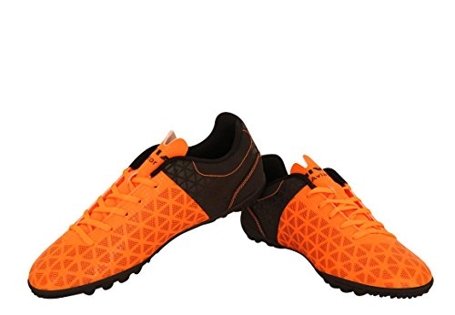 Nivia Aviator 102709 Football Futsal Shoes, UK 9 (Orange/Black)