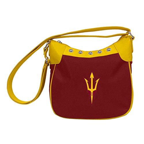 Charm14 NCAA Arizona State Sun Devils Umhängetasche, Handtasche mit gesticktem Logo