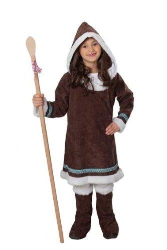 Eskimokostüm Kostüm Eskimo Maedchen zweiteilig Gr. 104, 116, 128, 140, 152, 164, Größe:116