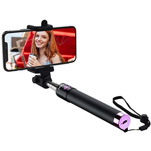 Mpow Selfie Stick,iSnap X U-Form Selfie Stange Erweiterbar Selfie-Stick mit integrierter Bluetooth Fernausl?ser Selfie Stick mit Handgelenkband f¨¹r IphoneHuawei amsung OPPO Redmi 4 MP3 Players usw