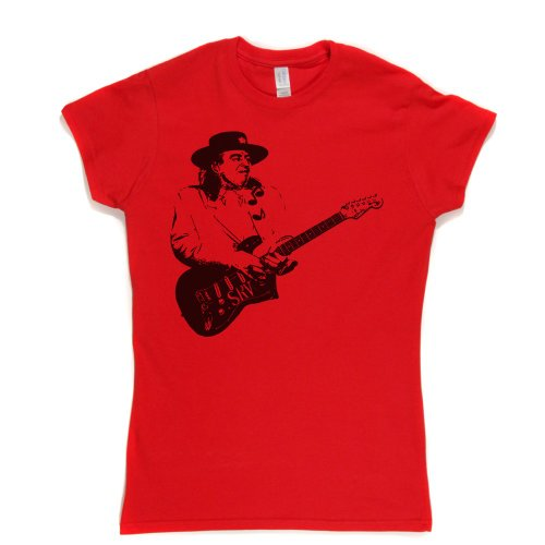 Stevie Ray Vaughan Live Womens Fitted T-shirt Rot