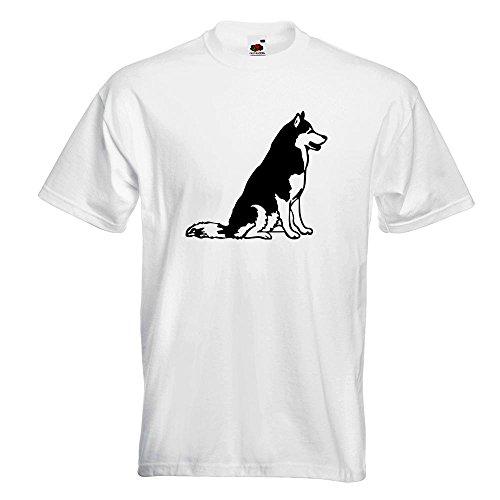 KIWISTAR - Husky - Alaska - Sibirien T-Shirt in 15 verschiedenen Farben - Herren Funshirt bedruckt Design Sprüche Spruch Motive Oberteil Baumwolle Print Größe S M L XL XXL Weiß
