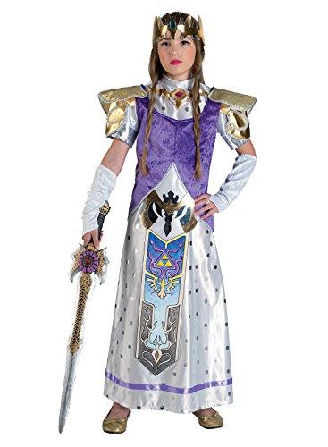 Chiber - Prinzessin Zelda Kostüm für Mädchen (Größe (Design Legend Zelda Link Of Kostüm)