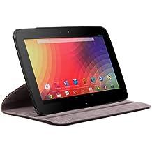 DURAGADGET Elegante Custodia Rotante in Vera Pelle Color Nero Con Supporto Regolabile E Funzioni Magnetic Sleep / Wake Disegnata Specificamente Per Samsung Google Nexus 10 WiFi 10