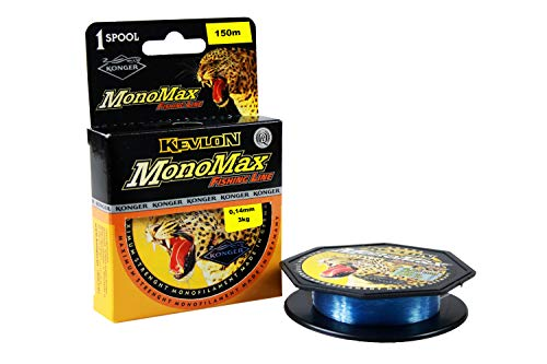 Konger Angelschnur Monomax 0,10mm-0,50mm/150m Spule Monofile (0,14mm / 3,00kg)