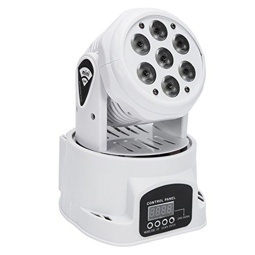 Maxmer 7xLED 150W RGBW Testa Mobile DMX512 Beam Wash Rotante Luci Palco Professionali per Interno Discoteca KTV Scena