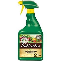 Naturen Bio Schädlingsfrei Obst- & Gemüse, Natürliches Mittel gegen Blattläuse, Spinnmilben, Weiße Fliegen, Gallmilben und Schildlausarten sowie Schmierläuse und Wollläuse, 750 ml Flasche