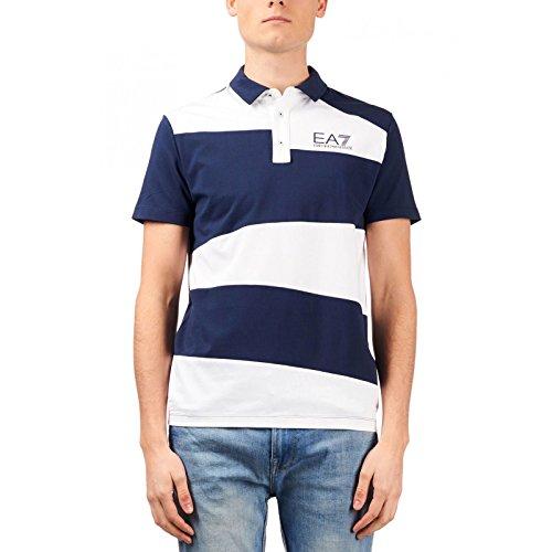 EA7 EMPORIO ARMAN Herren Poloshirt, Weiß Large