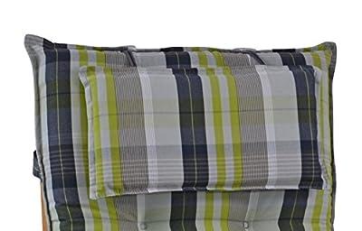 4 Luxus Auflagen für Hochlehner 9 cm dick mit Kopfkissen Miami 10478-210 (ohne Stuhl) von Möbelträume - Gartenmöbel von Du und Dein Garten