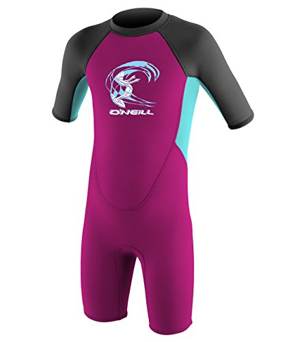 O'Neill Wetsuits Kinder Toddler Reactor Spring Neoprenanzug, Berry/Ltaqua/Graph, 2 Jahre