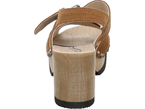 Softclox Sandalette mit Holzboden Sand (Hazelnut)