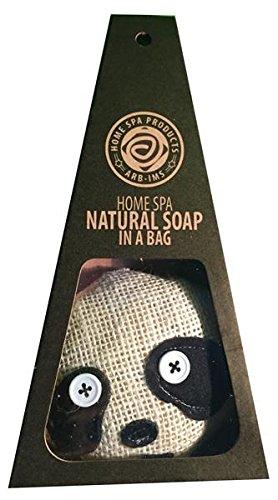 ARB IMS Aromatherapy Natural Home Spa Products - Sapone realizzato a mano  con ingredienti naturali in sacchetto Loofah come panda