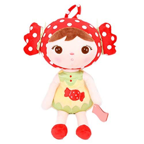 Creamon Mädchen Form Puppe, Mädchen Form Puppe Cartoon Stofftier Weichem Plüsch Puppe für Kinder Nette Rückenkissen 005#