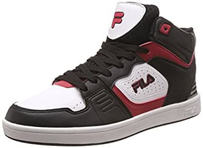 Fila Men's Ventura Black, White and Red Sneaker -9 UK/India (43 EU)