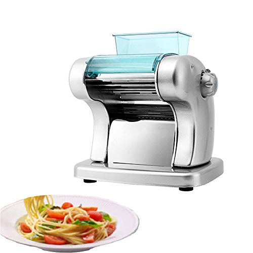 DAETNG Multifunction Electric Pasta Maker in one 6 Thickness Settings for Fresh Homemade Fettuccine Spaghetti Lasagne Dough Roller Press Cutter Noodle Making Machine,Silver