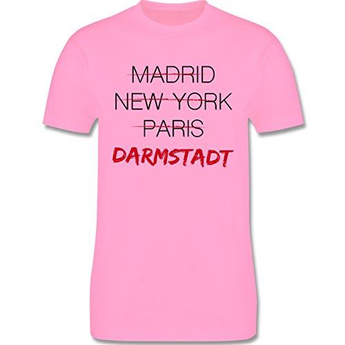 Städte - Weltstadt-Darmstadt - Herren Premium T-Shirt Rosa
