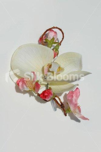 Marfil-orqudea-y-fucsia-rosa-Cherry-Blossom-boda-pelo-clip