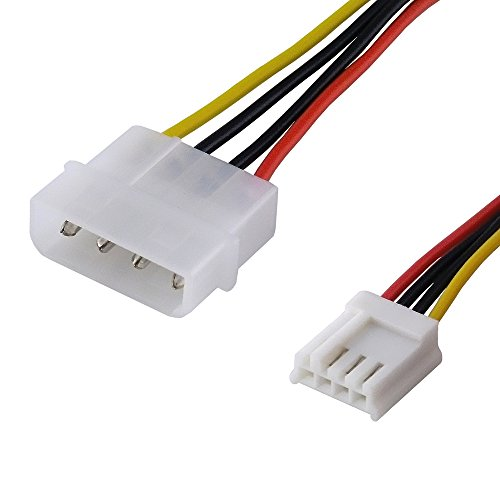 BestPlug 20cm internes PCI Strom-Kabel Adapter für Computer, 5,25 Power Stecker männlich auf 4pol 3,5 Buchse Kupplung weiblich Array Pole