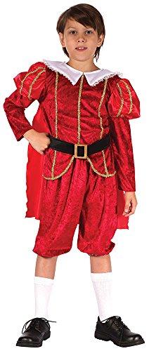 Bristol Novelty CC302 Tudor Prinz Kostüm (Kind Renaissance König Kostüme)