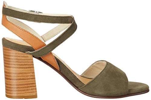 Marc O'Polo 70214021301302 High Heel Sandal, Sandales  Bout ouvert femme Vert olive