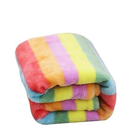 Gysad Decken Pet Decke Hundebett Matte Super Softe Warme Regenbogen,für Haustier Hundedecke Katzendecke Fleece-Decke…