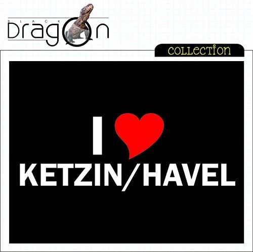 T-Shirt mit Städtenamen - i Love Ketzin/Havel - Herren - unisex Schwarz